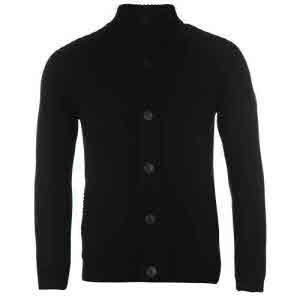 파이어트랩 버튼 니트 가디건 블랙 (Firetrap Button Through Knitted Cardigan Black)
